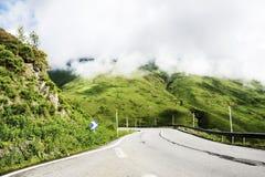 Mountain road view Stock Photo