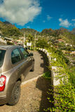 Mountain road view. Serra De Agua Madeira Portugal. Travel by car or hiking stock photo