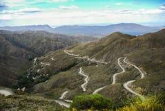 Mountain road in Villavicencio stock photo