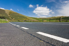 Mountain road in Wales. Mountain road in mid Wales, UK Stock Photo