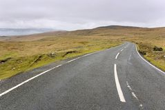 Mountain road in Wales. Black Mountains. Road A4069. February 2007 Royalty Free Stock Images
