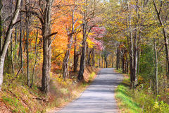 Mountain road in West Virginia Royalty Free Stock Photo