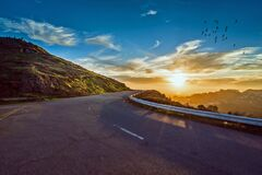 Mountain Road, Winding Road, Travel Royalty Free Stock Photography