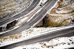 Mountain Road In Winter Royalty Free Stock Images