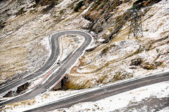 Mountain Road In Winter Royalty Free Stock Photography