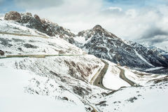 Mountain roads in China Royalty Free Stock Photography