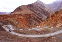 Mountain roads in Ladakh Royalty Free Stock Images