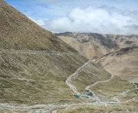 Mountain roads in Ladakh, India Royalty Free Stock Photo