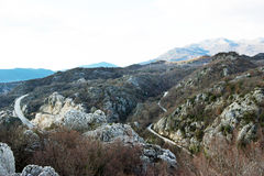 Mountain roads in Montenegro Royalty Free Stock Images