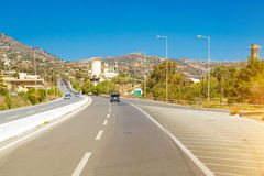 Mountain roads and serpentines of Crete, Heraklion Stock Images
