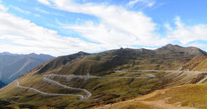 Mountain roads at the sunny day in Sichuan, China Stock Photo