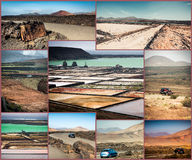 Mountain roads, views and sights of Lanzarote Stock Photos