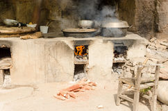 Mountain roadside simple kitchen Stock Photography