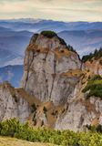 Mountain rock. Rocky mountain formation in Romanian Carpathians Stock Photos