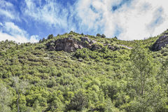 Mountain rock formation at Paonia State park, Colorado Royalty Free Stock Image