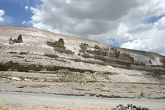 Mountain rock formations. Taken on the way to the Colcanyon Stock Photography