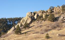 Mountain Rock Outcropping Stock Photo