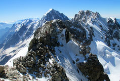 Mountain rock peak and snow Royalty Free Stock Photography