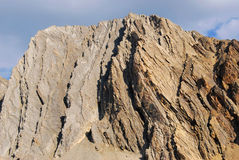 Mountain and rock slide Stock Photos