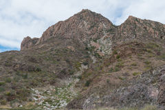 Mountain with rock slide Royalty Free Stock Photo