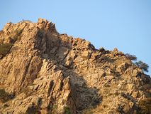 Mountain Rocks. Closeup of a rocky outcropping Royalty Free Stock Photo