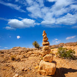 Mountain of rocks in Joshua tree National Park California Stock Photography