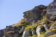 Mountain rocks. And rock cliff Stock Image