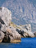 Mountain, rocks and sea Royalty Free Stock Photography