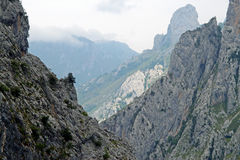 Mountain rocks with a small path royalty free stock photo