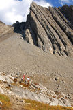 Mountain and rockslide royalty free stock image