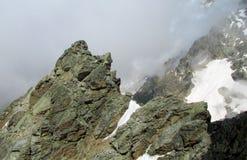 Mountain rocky peack Stock Photos