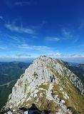 Mountain rocky peak in Piatra Craiului Stock Image