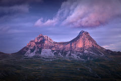 Mountain rocky peaks at beautiful sunset