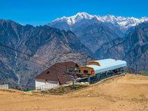 Mountain ropeway - Himalayas Royalty Free Stock Image
