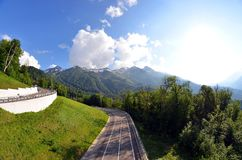 Mountain of the Rosa Khutor royalty free stock photography