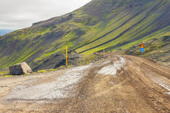 Mountain route 917 - Iceland. Royalty Free Stock Image