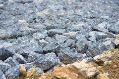 Mountain rubble stone wall Stock Photos