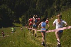 Mountain running challenge Royalty Free Stock Photos
