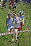 Mountain running challenge Stock Photos
