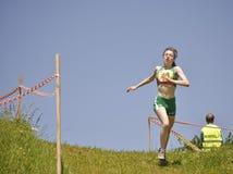 Mountain running challenge Stock Image