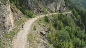 Mountain running marathon stock video