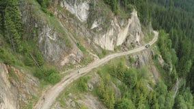 Mountain running marathon stock video footage