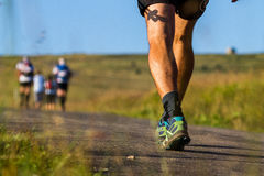 Mountain running Royalty Free Stock Photos