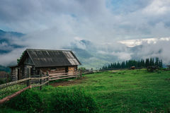 Free Mountain Rural Landscape Covered By Fog In The Morning Stock Images - 95123754