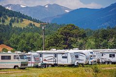 Mountain RV Park Royalty Free Stock Image