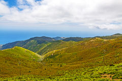 Mountain's crest - green landscape Royalty Free Stock Images