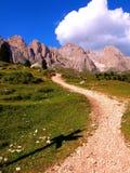 Mountain's path in Dolomites Stock Photo