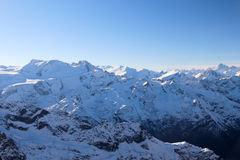 Mountain's View. View of snow mountain on the top of Titlis mountain, Switzerland Stock Photography