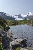Mountain Saddle Pond Stock Photo
