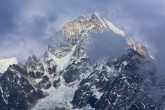 Mountain in Sagarmatha National park, Nepal Stock Image